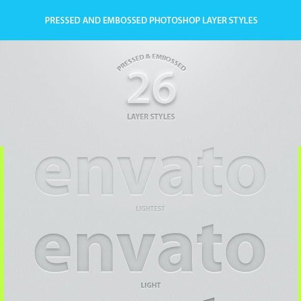 26 Pressed & Embossed Styles