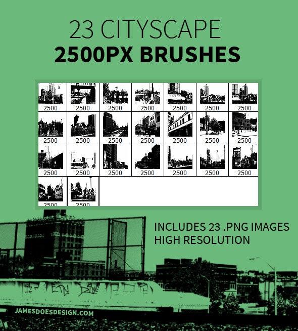 23 Cityscape Brushes - Miscellaneous Brushes