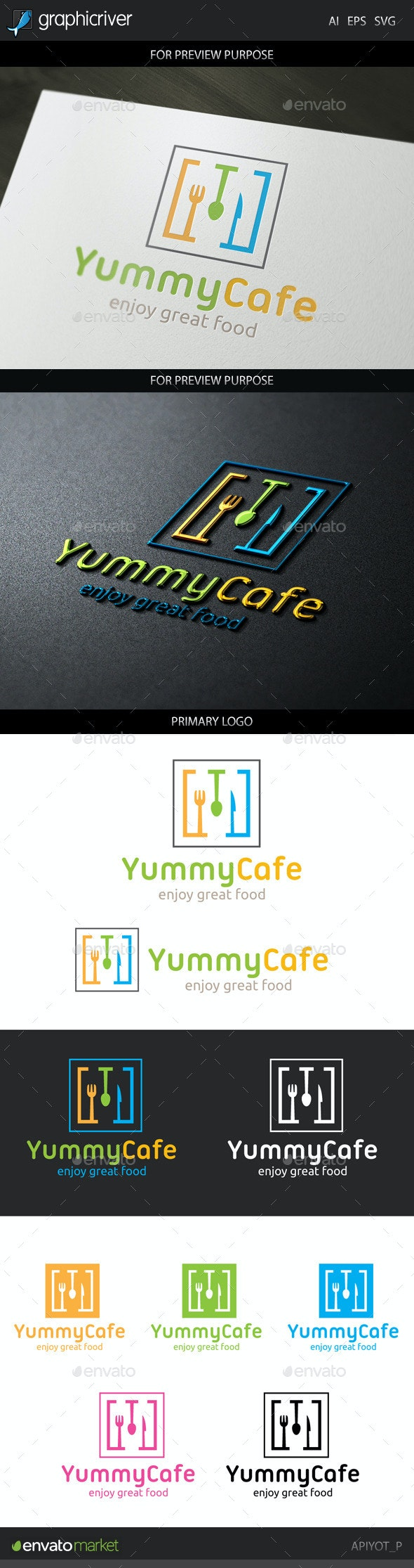 Yummy Cafe Logo