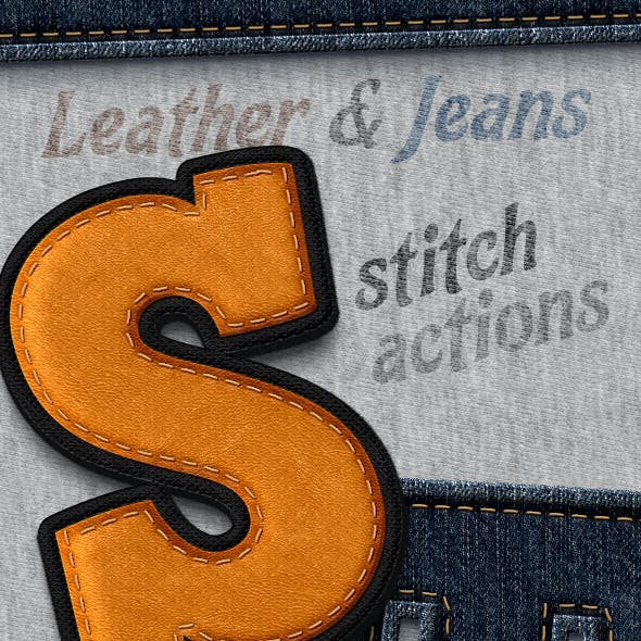 Stitched Leather And Jeans - Actions