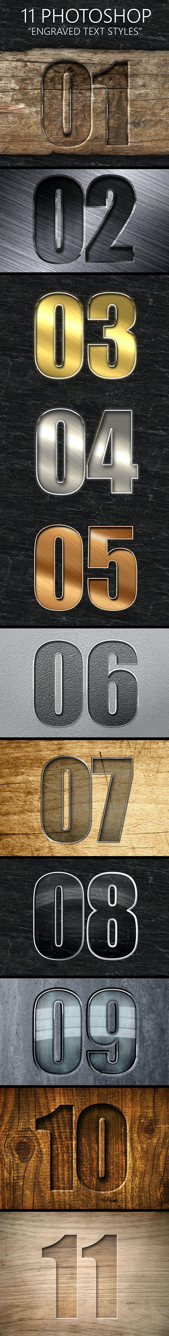 11 Engraved Text Styles - Text Effects Styles