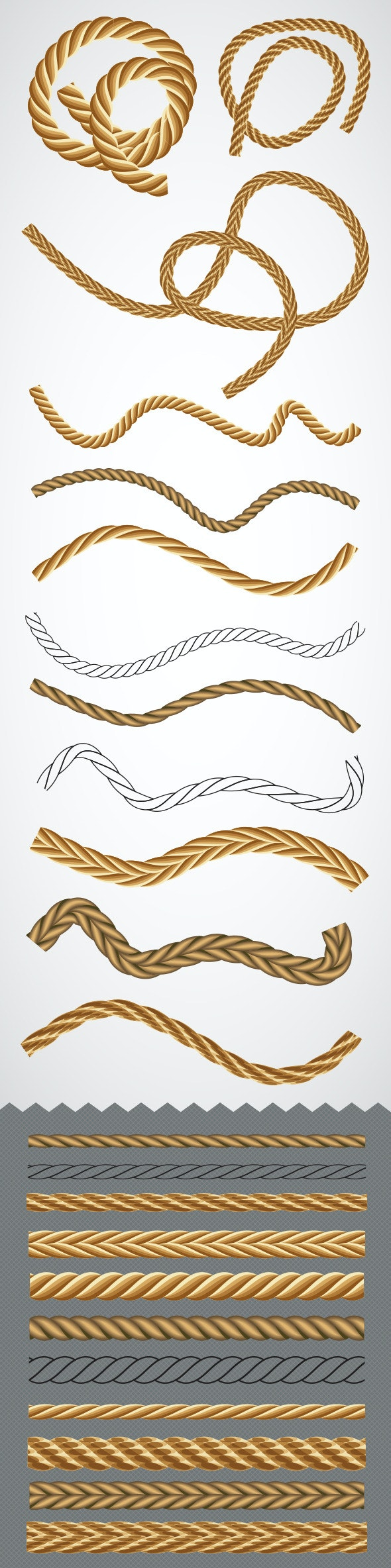 Vector Rope Graphic Styles - Texture Brushes