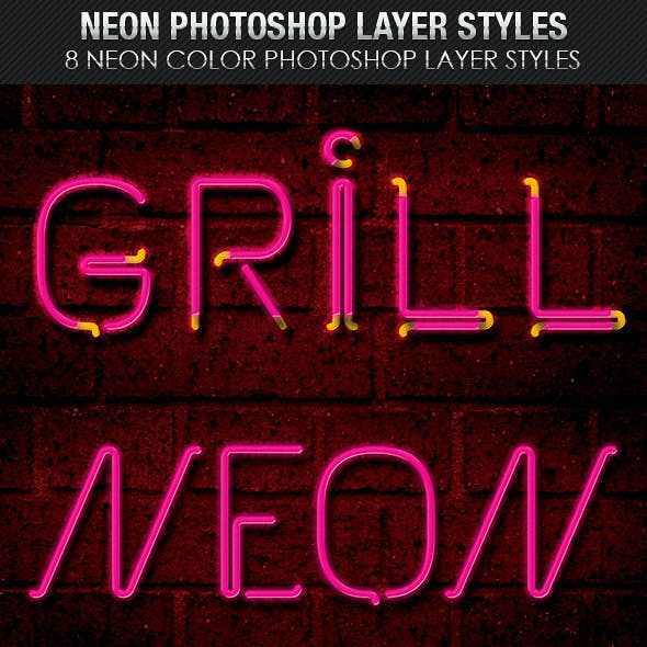 Neon Photoshop Layer Styles