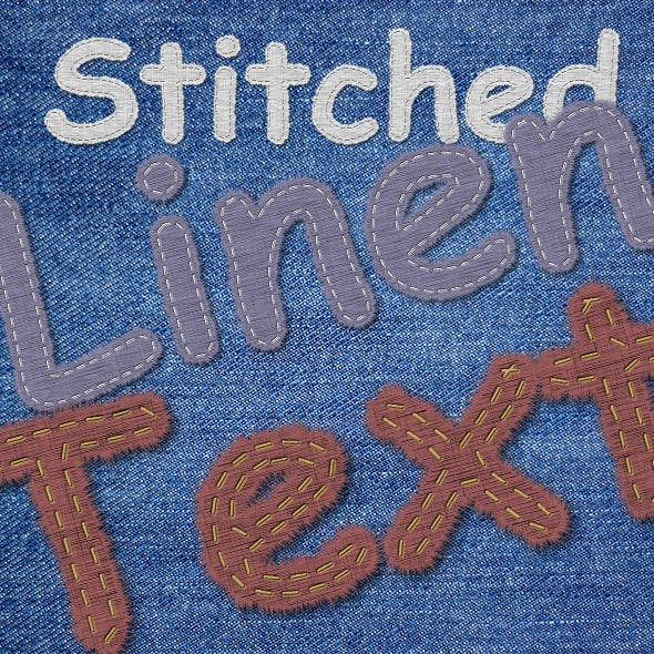 Stitched Linen Text Generator