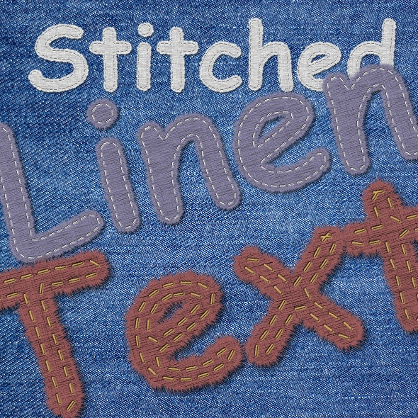 Stitched Linen Text Generator - Text Effects Actions