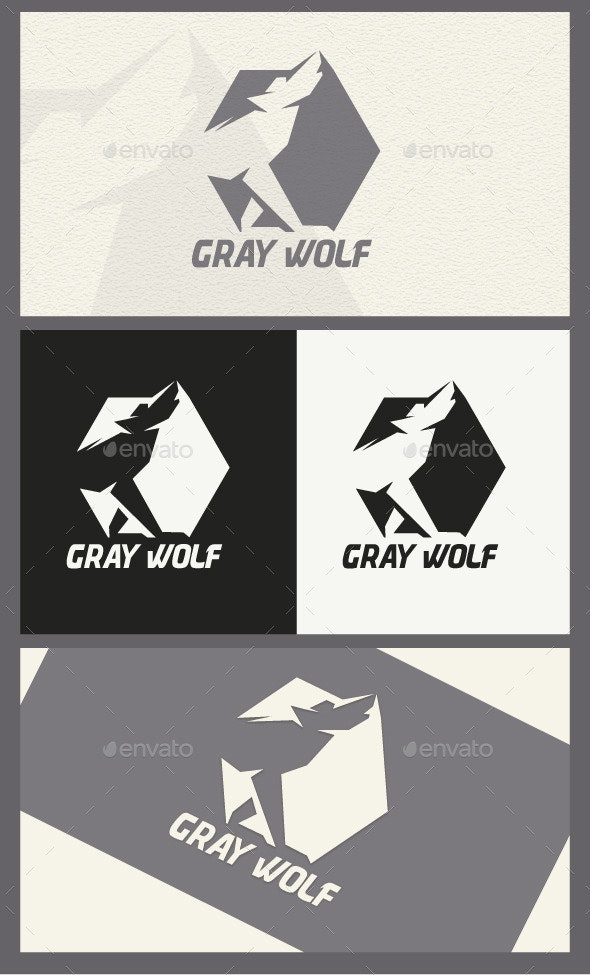 Gray Wolf - Animals Logo Templates