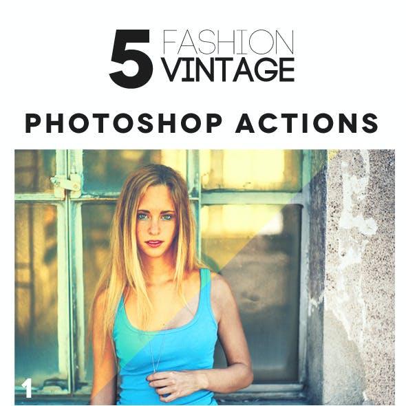 Fashion Vintage Photoshop Actions