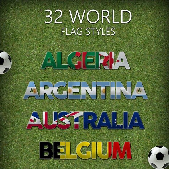 32 World Flag Styles