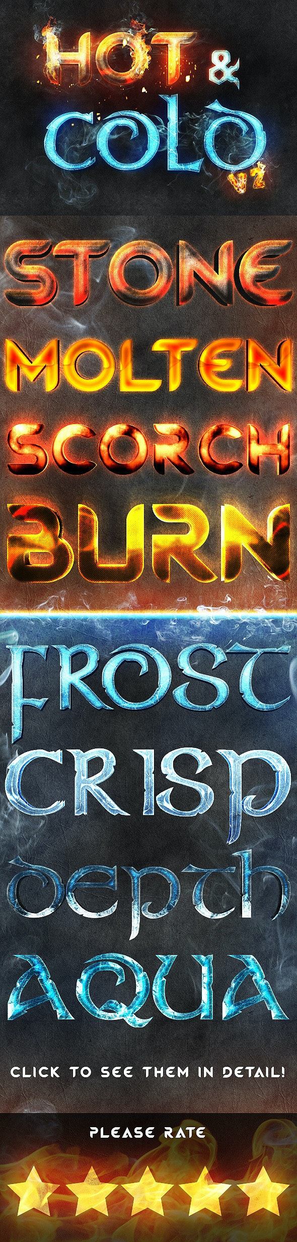 Hot and Cold V2 - Text Effects Actions