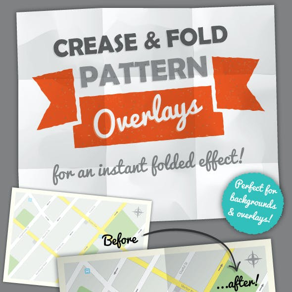 Fold and Crease Pattern Overlays