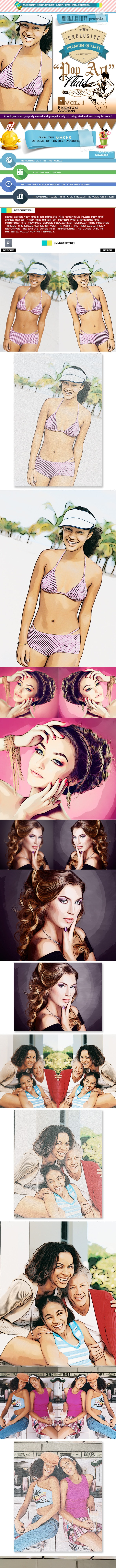 Creative Fluid Pop Art – Charles Brown's Kit - Photo Effects Actions