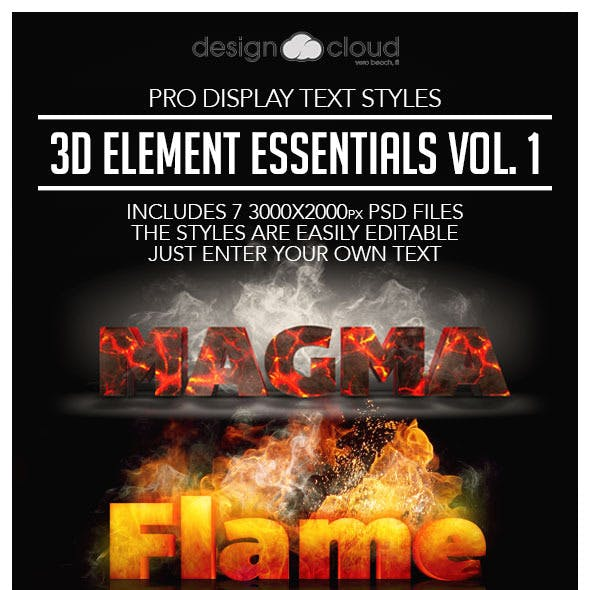 Pro 3D Text Styles: Element Essentials Vol. 1