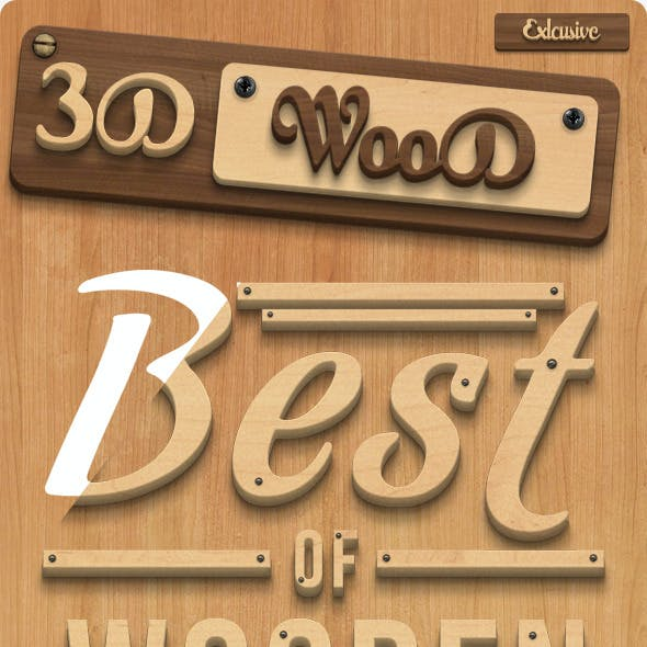3D Wood Creation Photoshop Actions