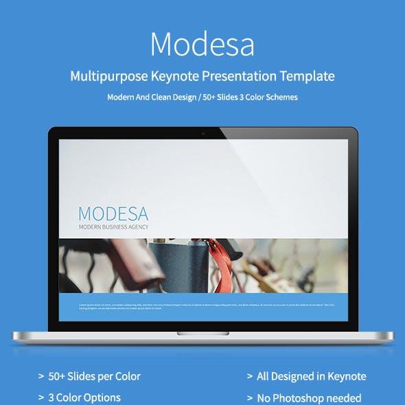 Modesa -  Multipurpose Keynote Template