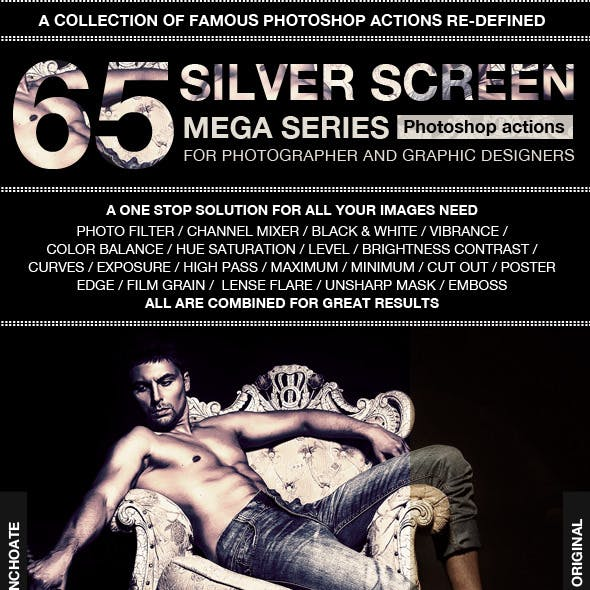 Silver Screen Mega Series Photoshop Actions