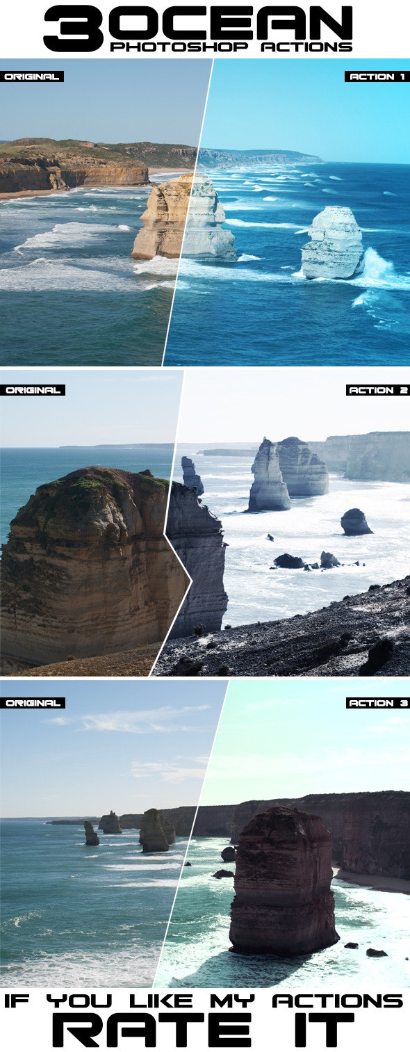 Ocean Photoshop Actions - Photo Effects Actions