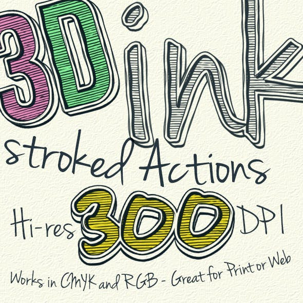 3D Stroked Ink - Actions