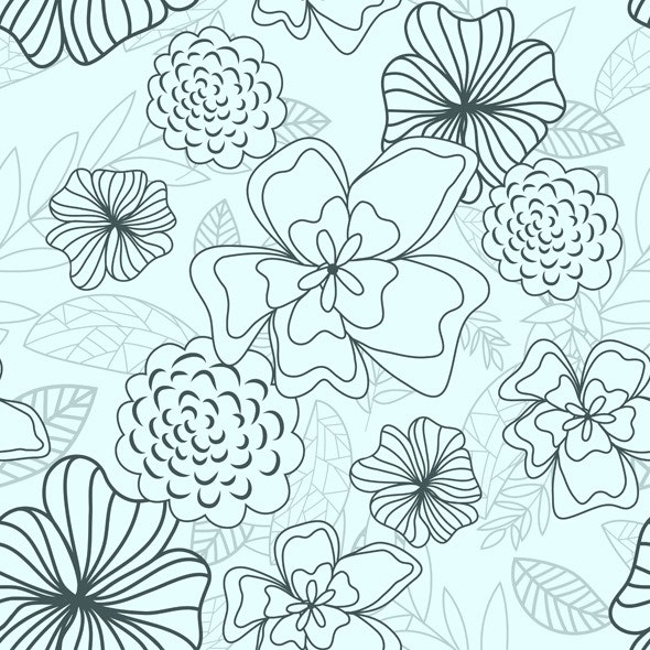 Floral Seamless Pattern - Nature Textures / Fills / Patterns