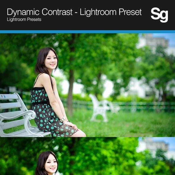 Dynamic Contrast - Lightroom Preset