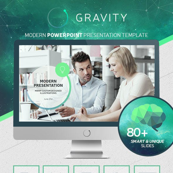 Gravity PowerPoint - Modern Presentation Template