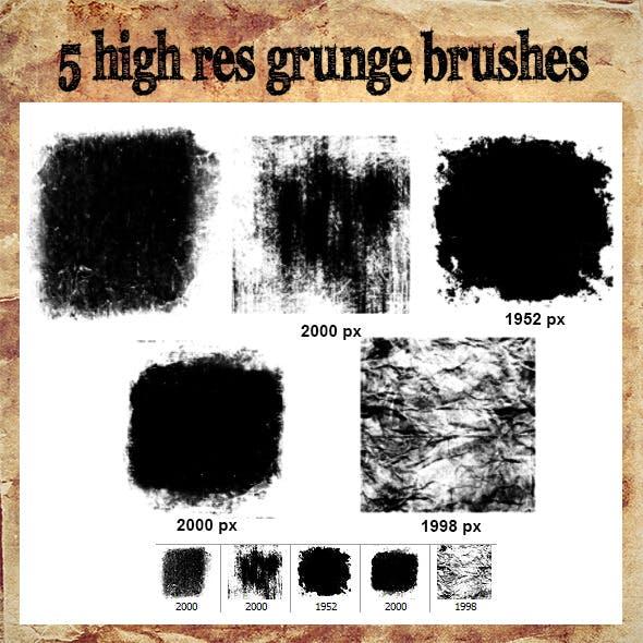 High Res Grunge Brush Set 1