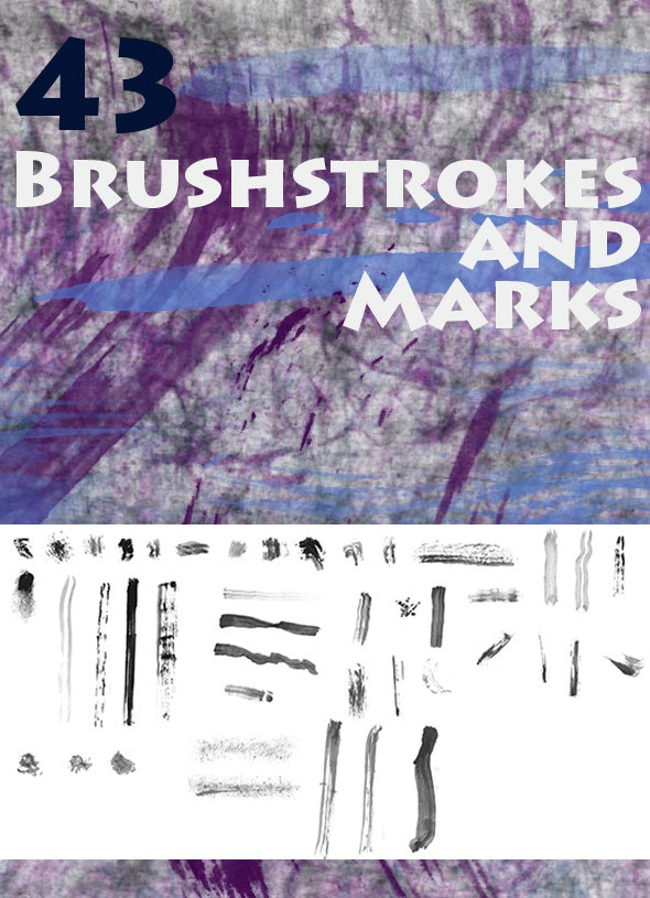 Brushstrokes and Marks - Brushes Photoshop