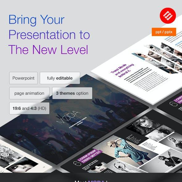 MODA - Modern Powerpoint Template