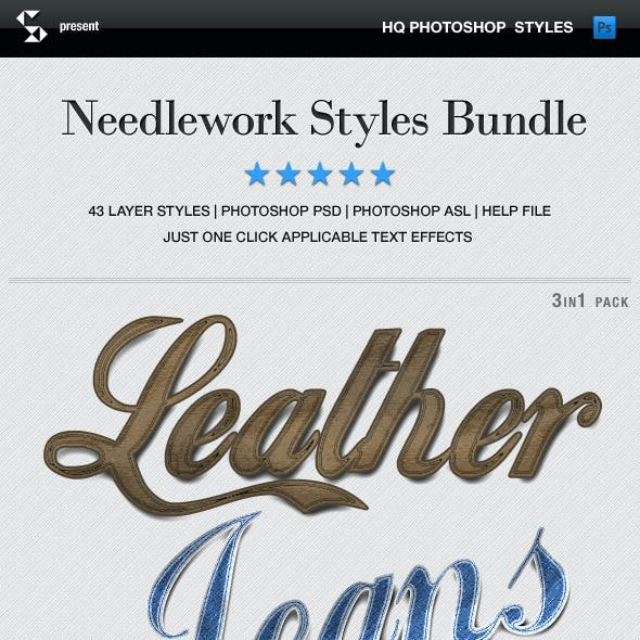 Needlework Styles Bundle - Denim, Leather, Fabric