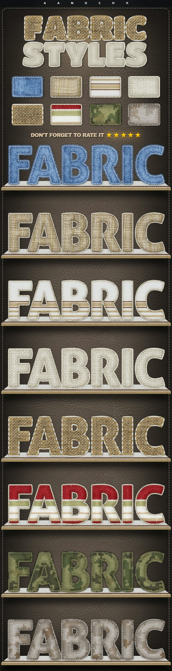 Fabric Styles - Text Effects Styles