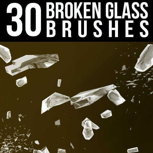30 Broken Glass Brushes