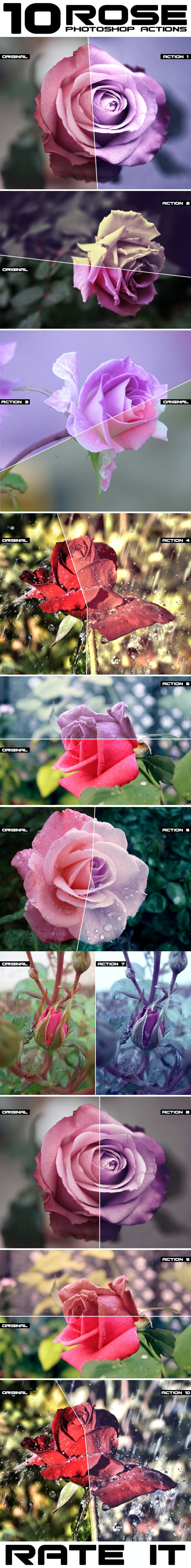 Rose Flowers Actions - Photo Effects Actions