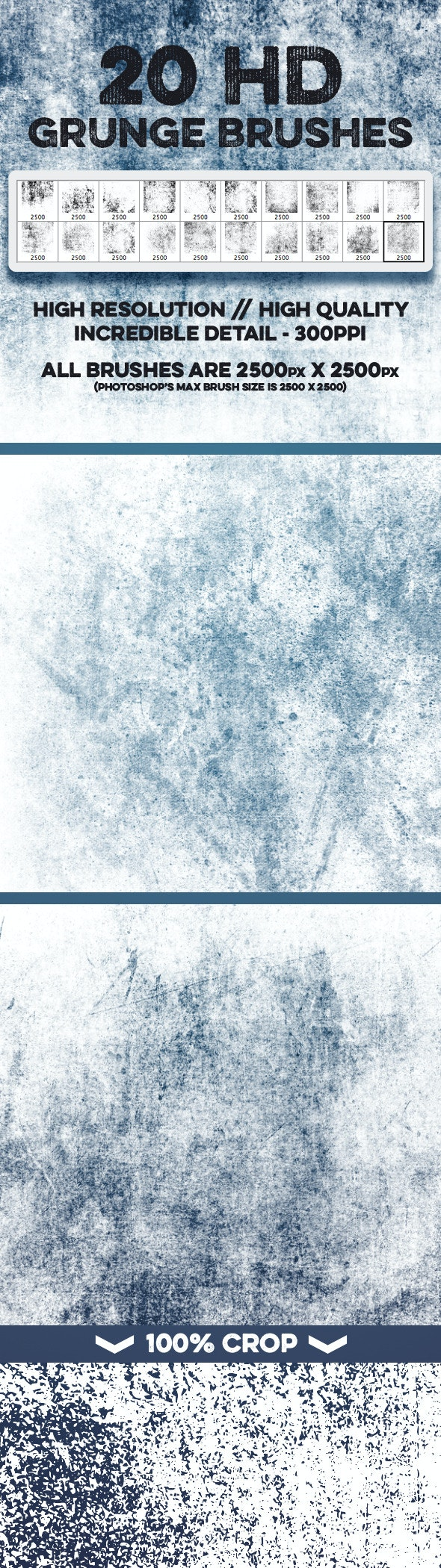 20 HD Grunge Theme Brushes - Volume 1 - Grunge Brushes