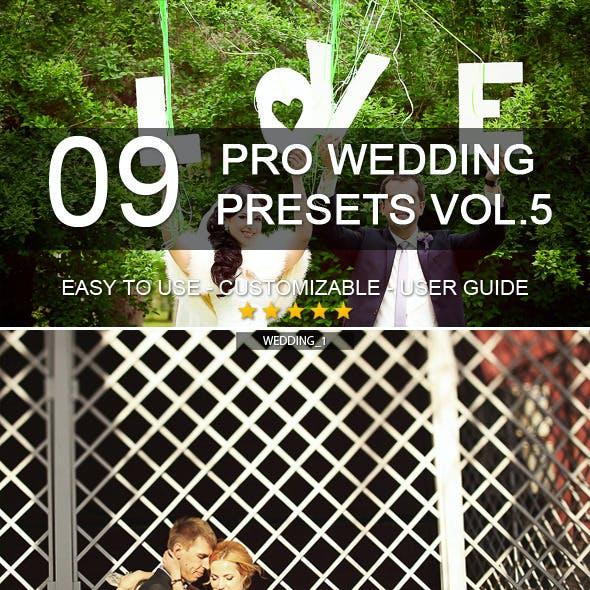 9 Pro Wedding Presets vol.5