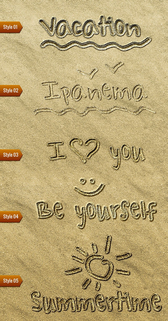 Sand Writing - Text Effects Styles