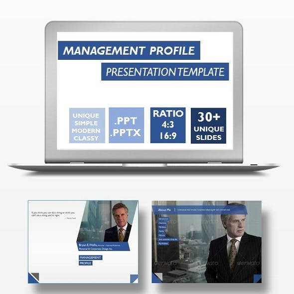 Management Profile Presentation Template