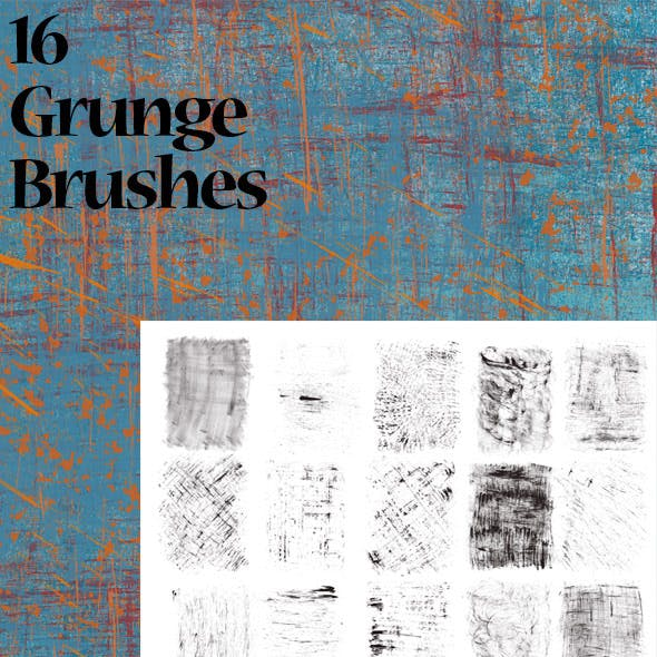 16 Huge Grunge Brushes