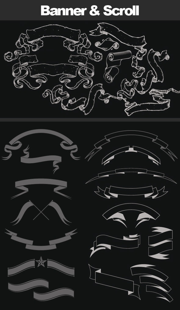 Scroll and Banner Brush - Brushes Photoshop