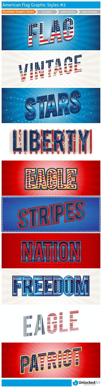 American Graphic Styles 2 - Styles Illustrator
