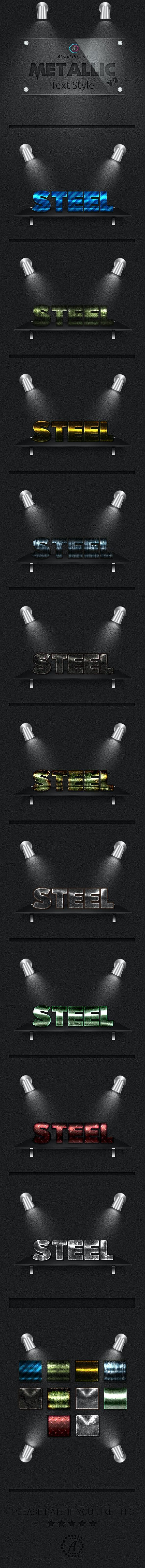 Metallic Text Styles (Vol-1) - Text Effects Styles
