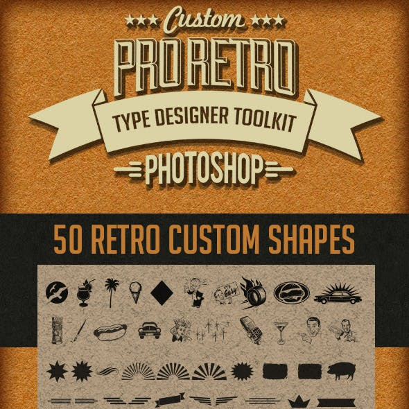 Pro Retro Text Designer Toolkit