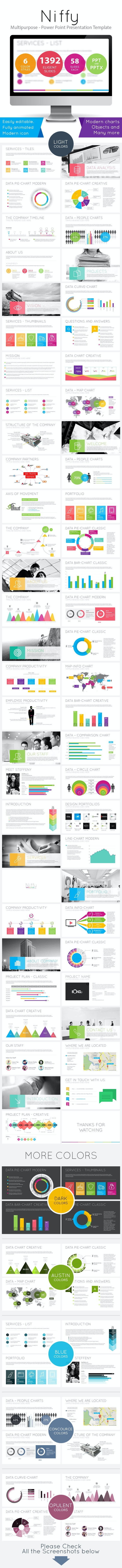 Niffy - Multipurpose Power Point Presentation - PowerPoint Templates Presentation Templates