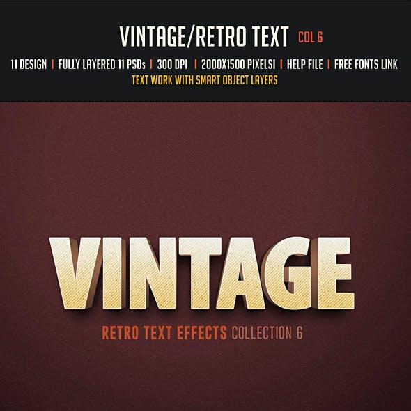Vintage/Retro Text Col 6
