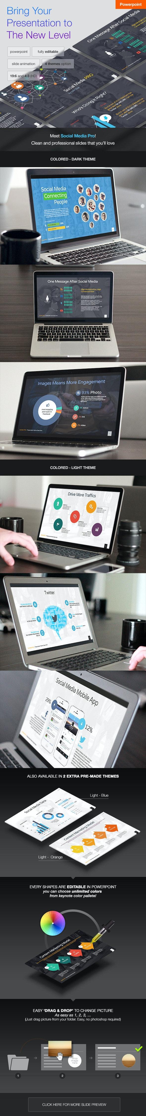 Social Media PRO - Powerpoint Template - PowerPoint Templates Presentation Templates