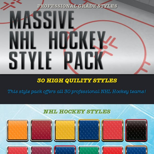 30 NHL Hockey Style Pack