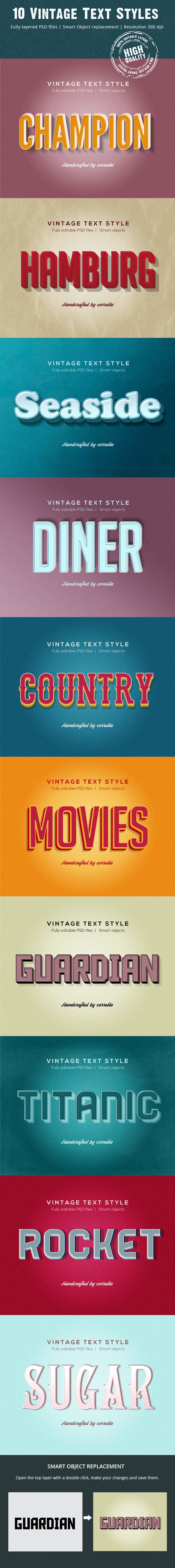 10 Vintage Text Styles - Text Effects Actions