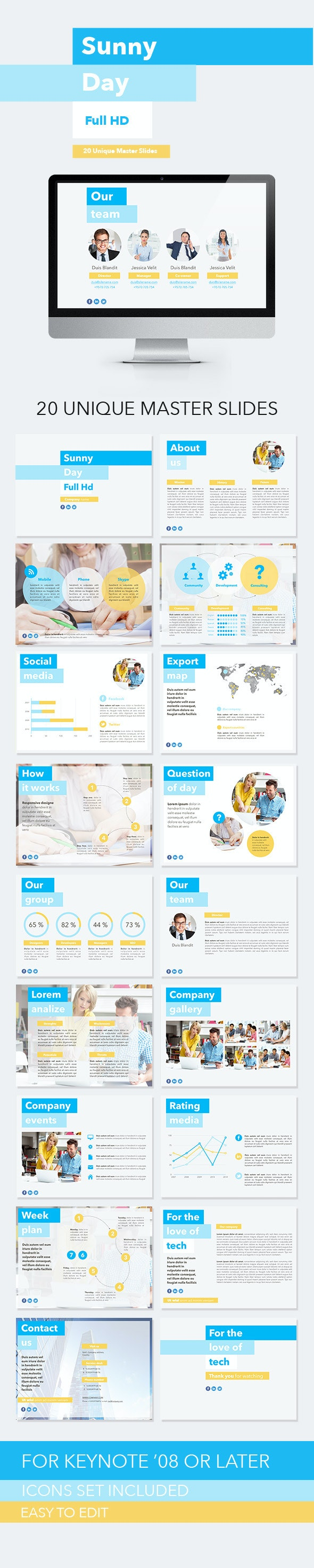 Sunny Day Keynote Template - Keynote Templates Presentation Templates