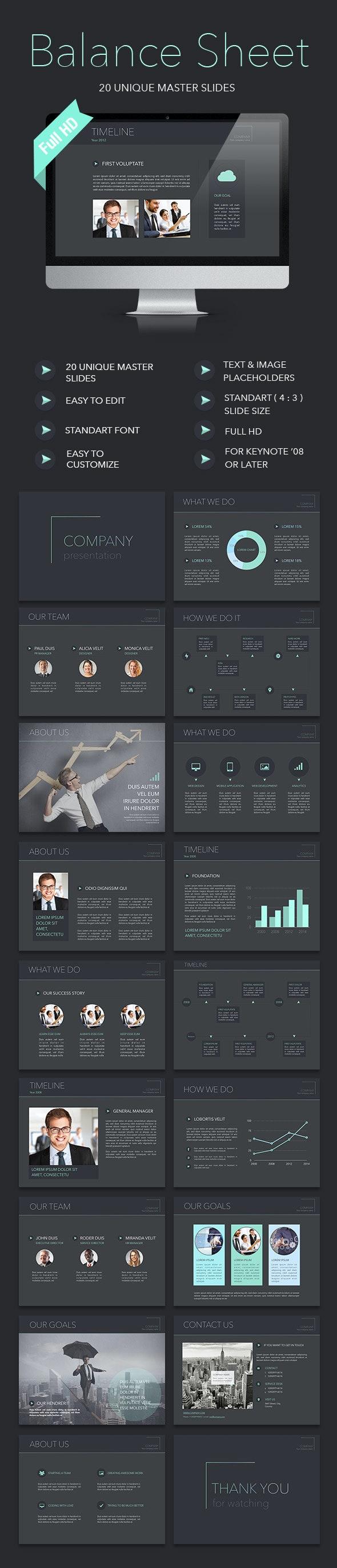 Balance Sheet Keynote Template - Keynote Templates Presentation Templates