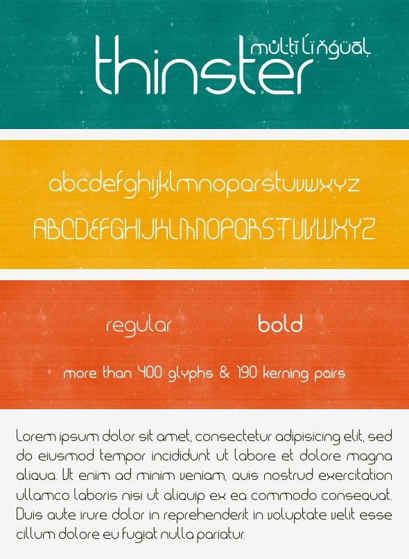 Thinster Typeface - Sans-Serif Fonts