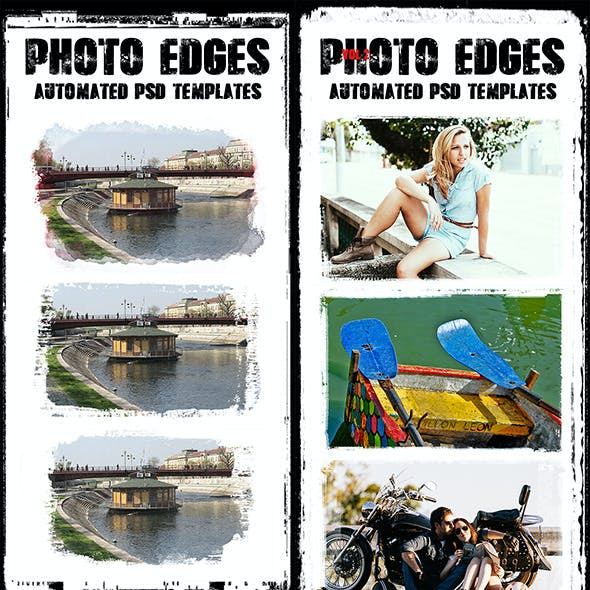Cool Photo Edges Automated PSD Templates Bundle