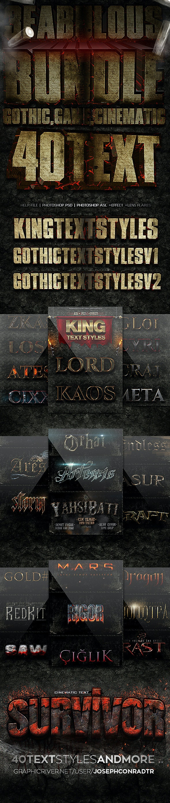 Fantastic Styles Bundle - Text Effects Styles